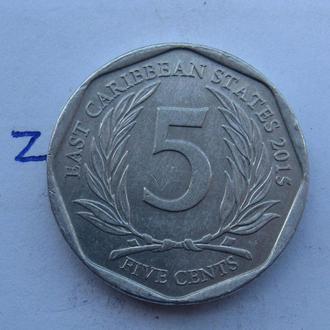 ВОСТОЧНО-КАРИБСКИЕ ГОСУДАРСТВА, 5 центов 2015 года.