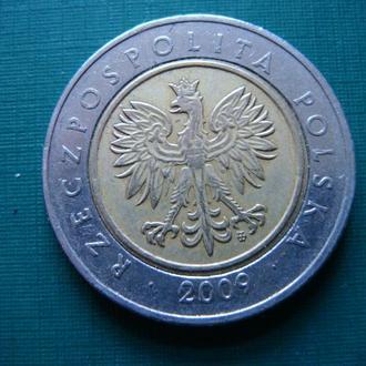 Польша 5 злотых 2009