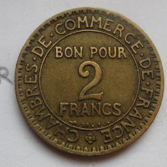ФРАНЦИЯ, 2 франка 1923 г.