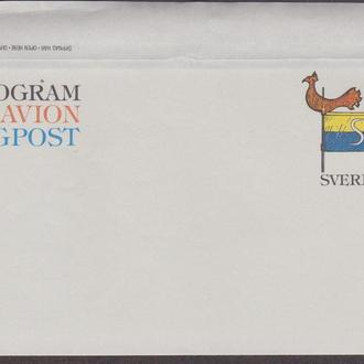 Швеция 1978 ФЛЮГЕР КОНЁК ПЕТУШОК ФЛАЖОК ФЛАГ ШВЕЦИИ ПОЧТА ПОЧТОВАЯ ДОСТАВКА АГ ОМ**