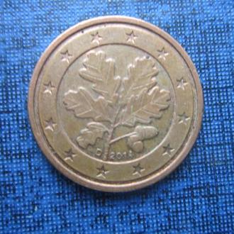 монета 2 евроцента Германия 2014 D