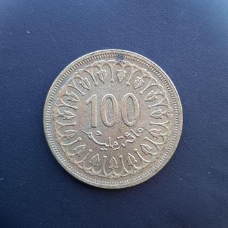 100 миллимов 1960 Тунис Б1
