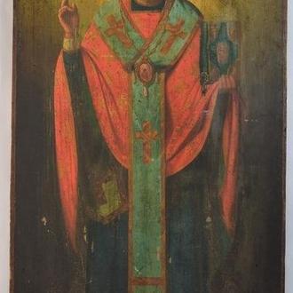 Св. Николай Чудотворец.  Размеры 89х43 см.