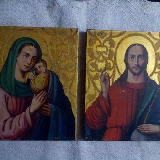 Венчальная пара Господь Вседержитель ,Божья матерь Неувядаемый цвет