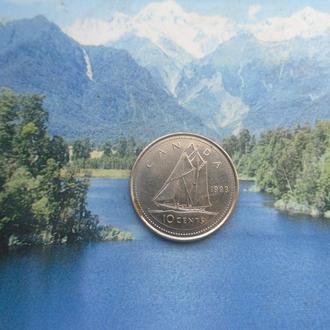 Канада 10 центов 1993 года
