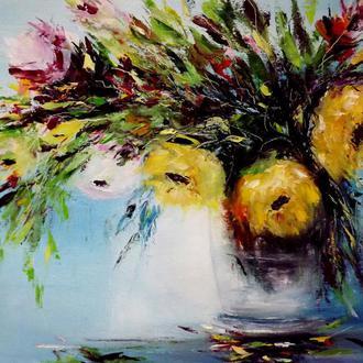 Холст, масляные краски, авторская живопись