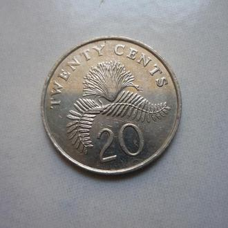 Сингапур 20 центов 1986 флора