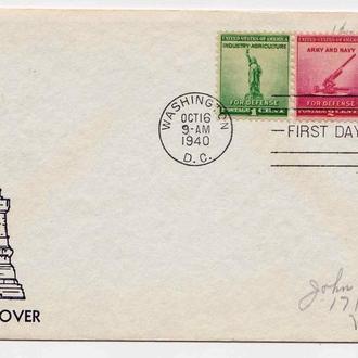 Архитектура .  США 1940 г - КПД  - серия - Вашингтон