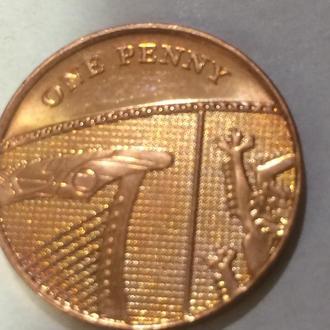 Великобритания 1 пенни 2010 г.