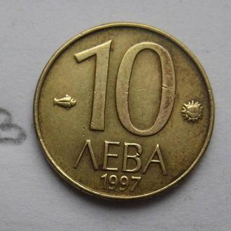 БОЛГАРИЯ, 10 левов 1997 года (в желтом металле).