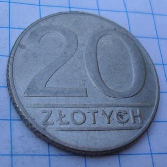 Польша 20 злотых - 1990
