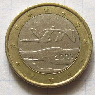 Финляндия_ 1 евро 2000 года оригинал