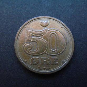 Дания 50 эре 1989