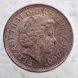 1 пенни Великобритания 2007 год (87)