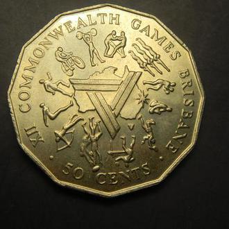 50 центів 1982 Австралія Ігри співдружності, Брісбен