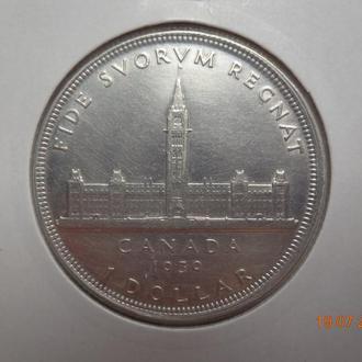 Канада 1 доллар 1939 Royal Visit in Ottawa СУПЕР состояние редкая