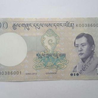 Бутан. 10 нгултрумов 2013 год. UNC.