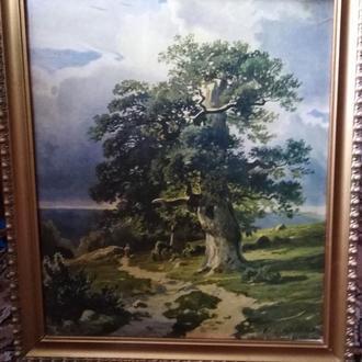 """Картина """"Деревья"""" Торшонированая Шишкина СССР"""