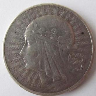 10 злотых 1932г Польша Ядвига