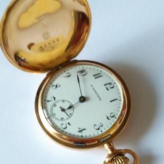 Женские золотые часы Фридрихь Винтер, 24 карата, сохран! Рабочие, точный ход, 1890г.
