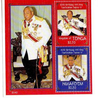 GB Тонга Ниафу 1998 г MNH - блок