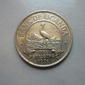 Уганда 1 шиллинг1976 фауна