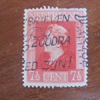 Нидерланды 1945 Вильгельмина   стандарт ГАШ