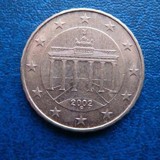 Германия 10 центов 2002  F
