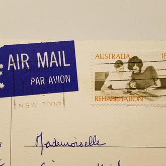 (А) Марка Австралия 1972 год + Открытка!