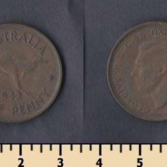 АВСТРАЛИЯ 1/2 ПЕННИ 1942