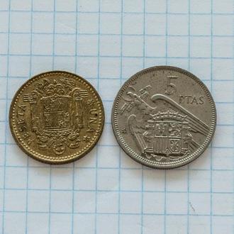 Испания 1 и 5 песет