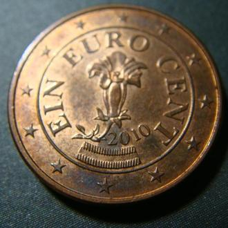 Австрия 1 цент 2010 год