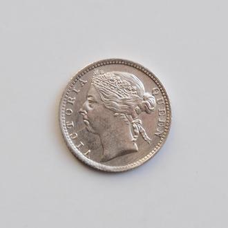 Стрейтс-Сетлментс 10 центов 1898 г., XF, 'Королева Виктория (1845 - 1901)'