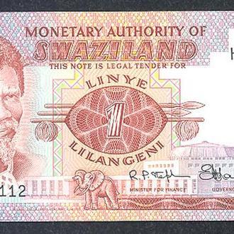 Боны Африка Свазиленд 1 лилангени 1974 г.
