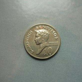 Филиппины 10 сентимо 1972