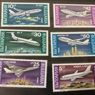 1990. Болгария.MNH. Самолеты