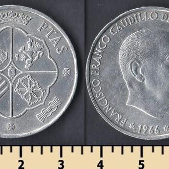 Испания 100 песет 1966