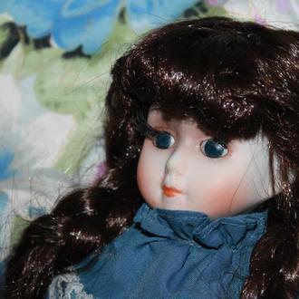 старинная фарфоровая кукла Шелли. Бельгия