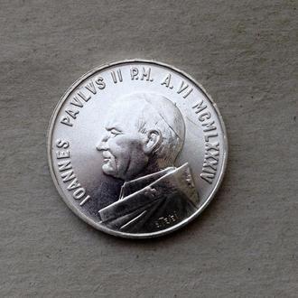 Ватикан 1000 лир 1984 серебро Unc СОХРАН ШТЕМПЕЛЬ