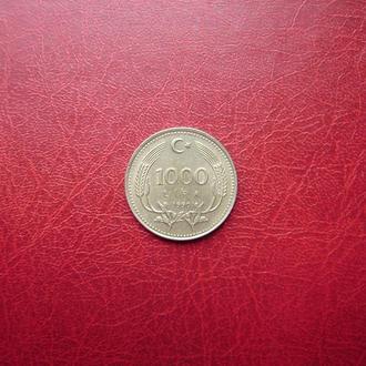 Турция 1000 лир 1990