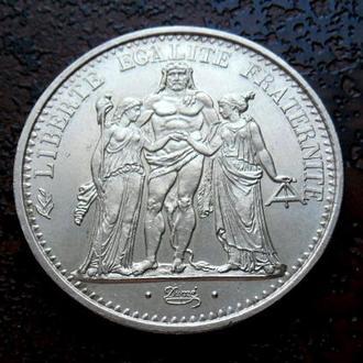 10 ФРАНКОВ ФРАНЦИЯ 1965 состояние UNC!!! серебро