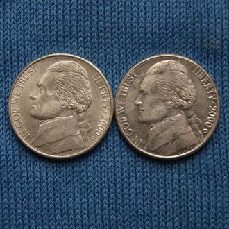 США 5 центов  2000 г   P D