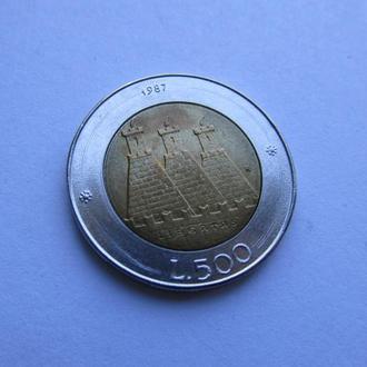 500 лир Сан Марино. Италия 1987