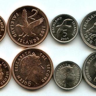Falkland Islands / Фолклендские острова - set 4 coins 1998-2011 UNC Миралот