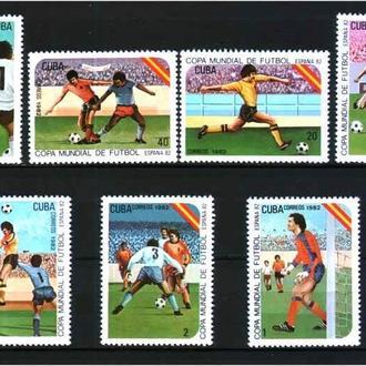 ZM  Футбол Куба 1982 г  MNH -