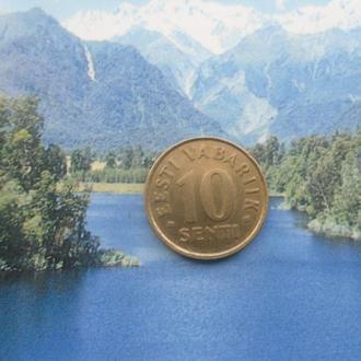 Эстония 10 центов 2002 года