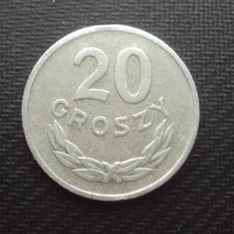 Польша 20 грошей. 1963г.