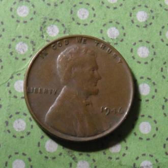США 1946 год монета 1 цент Америка !