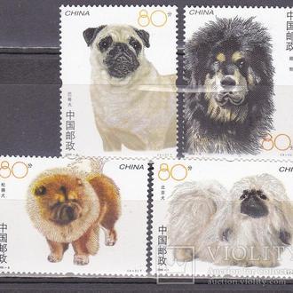 Китай собаки MNH