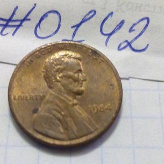 1 цент 1984 США.